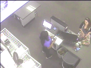 A woman used a store credit card at Best Buy and Macys in Sugar Land.