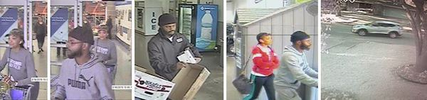 Thieves go shopping with stolen credit cards.