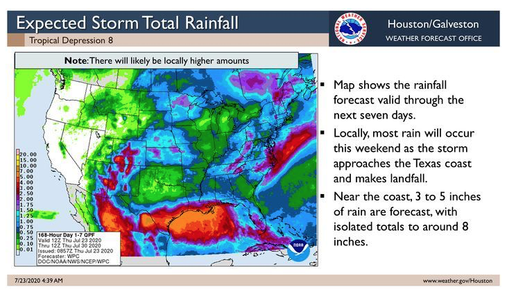 Heavy rainfall is expected this weekend.